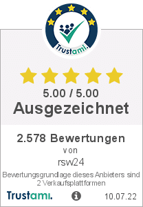 Trustami Vertrauenssiegel Box von RSW Onlinevertrieb Stümpfl Wohlfahrt GbR