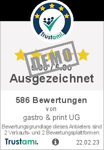 Trustami Vertrauenssiegel Box von gastro & print UG
