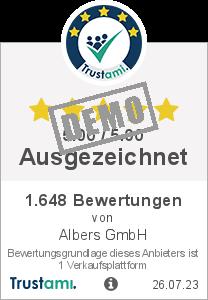 Trustami Vertrauenssiegel Box von Albers GmbH