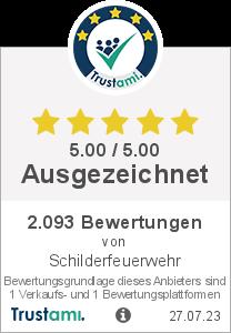 Trustami Vertrauenssiegel Box von Schilderfeuerwehr HändlerShop