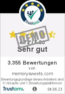 Trustami Vertrauenssiegel Box von MemorySweets GmbH