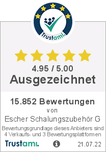 Trustami Vertrauenssiegel Box von Escher Schalungszubehör GmbH
