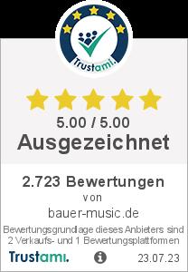 Trustami Vertrauenssiegel Box von bauer-music.de
