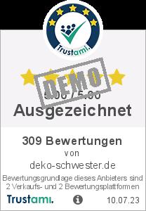 Trustami Vertrauenssiegel Box von deko-schwester.de GmbH
